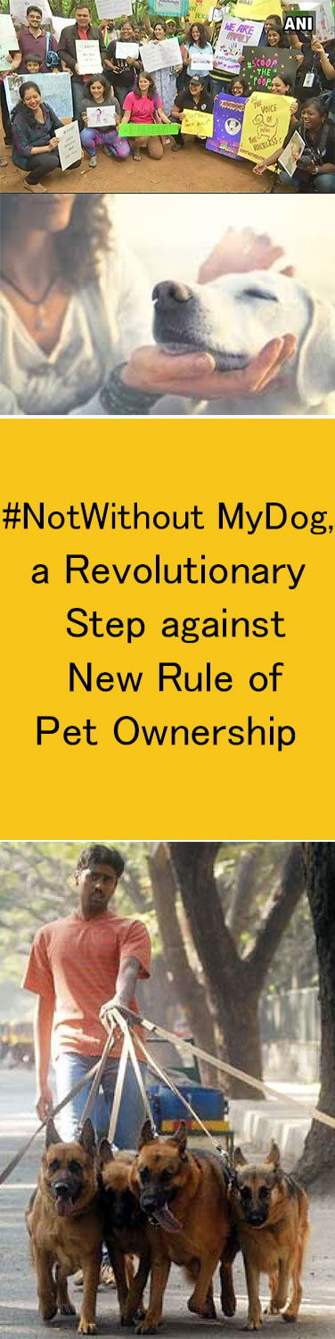 #NotWithoutMyDog', a Revolutionary Step against New Rule of Pet Ownership