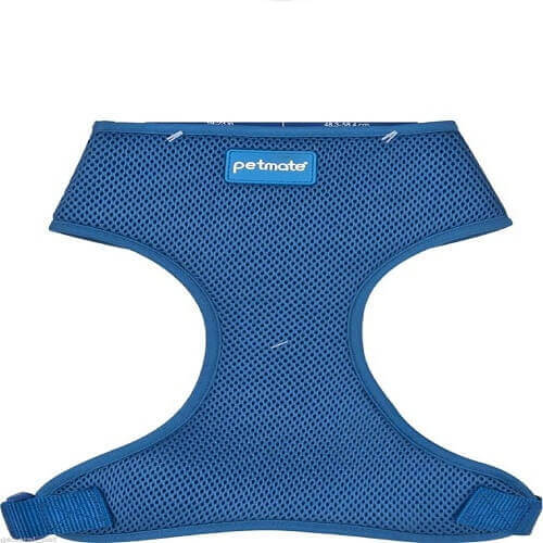 PETMATE STANDARD MESH DOG HARNESS MEDIUM ROYAL BLUE