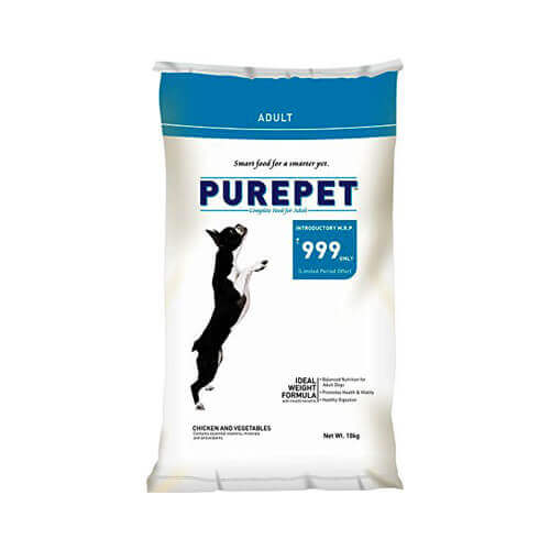 Purepet Chicken & Vegetables Adult Dog Food, 10kg