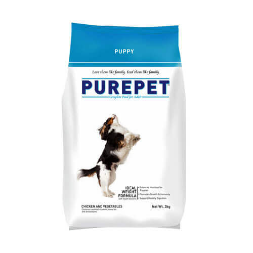 Purepet Puppy Chicken & Vegetables 10 KG Dog Food