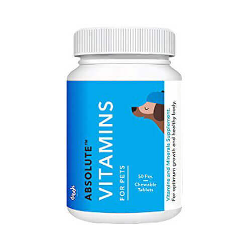 Drools Absolute Vitamin Tablet- Dog Supplement, 50 Pcs