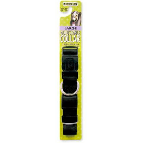 PETMATE NYLON ADJUSTABLE DOG COLLAR BLACK