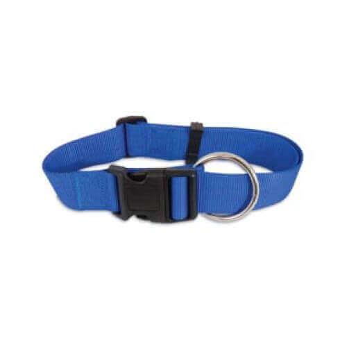 PETMATE NYLON ADJUSTABLE DOG COLLAR BLUE