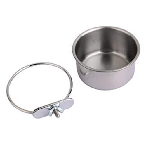 Clamp Bolt Cup Bird Water Bowl