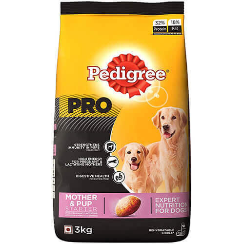Pedigree Professional Starter Mother & Pup Premium Dog Food, 3 kg Pack