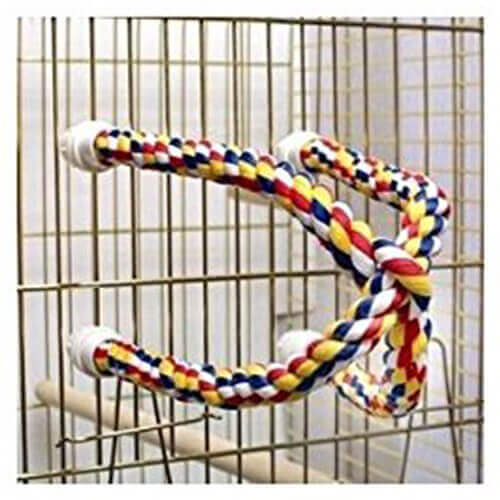 Brand New Aspen Pet Booda Comfy Perch Multicolor 25in Cross Small Bird Toy Bird Ladders Swings Perches