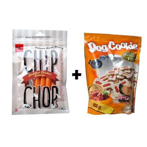CHICKEN SAUSAGES DOG SNACK & DOG COOKIE