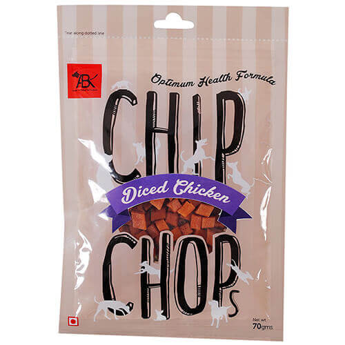 Chip Chops Diced Chicken Dog Snacks