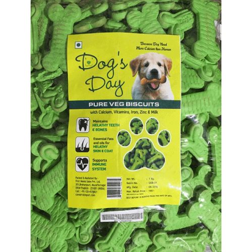 Dog's Day Pure Veg Dog Biscuits 1 KG
