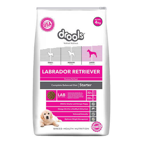 Drools Labrador Retriever Starter Premium Dog Food 4 kg