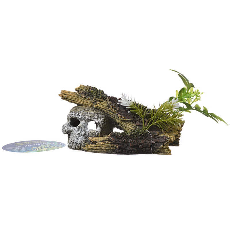 Environments Jungle Skull Hideaway with Plants Ornament