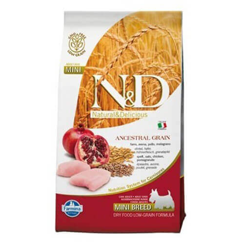 Farmina N&D Low Grain Chicken and Pomegranate Puppy Food 0.8 kg- Mini