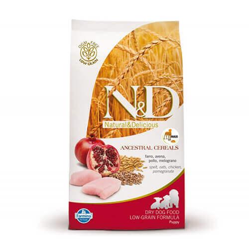 Farmina N&D Low Grain Chicken and Pomegranate Puppy Food 12 kg- Maxi