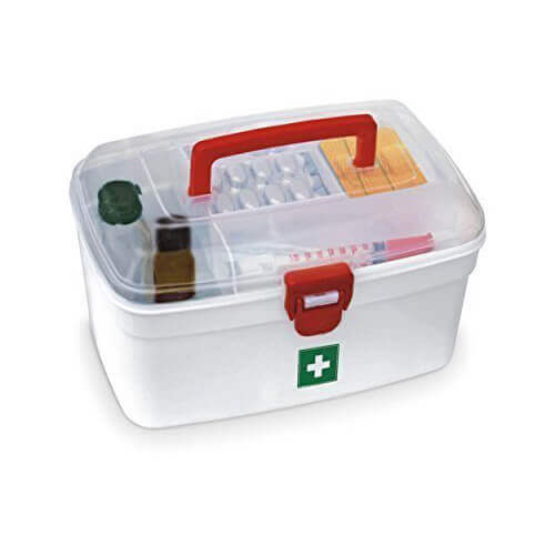 Medical Kit Box Removable Inner Tray and Carrying Handle