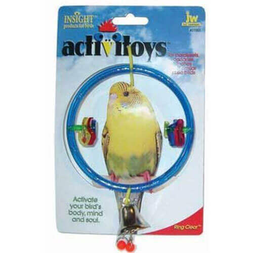 JW PET COMPANY Activitoy Bird Toy Ring Clear
