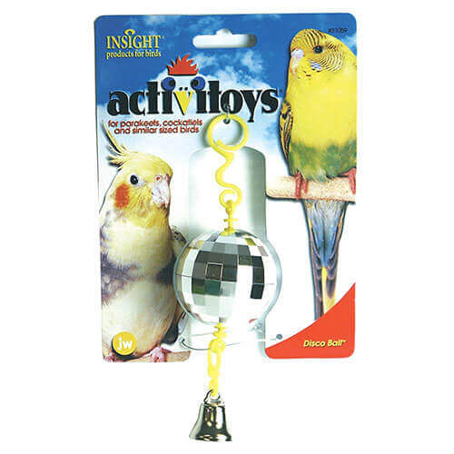 JW Pet Company Activitoy Disco Ball Small Bird Toy Colors Vary