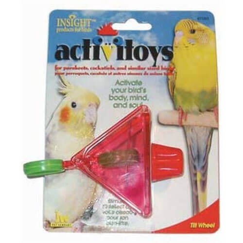 JW Pet Company Activitoy Tilt Wheel Small Bird Toy Colors Vary