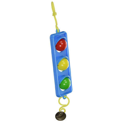 JW Pet Company Activitoy Traffic Light Small Bird Toy Colors Vary
