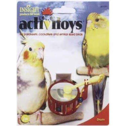 JW Pet Company Activitoys Drum Bird Toy