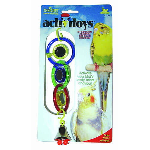 JW Pet Company Activitoys Triple Mirror Bird Toy