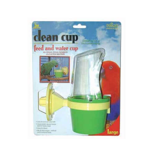 JW Pet Company Clean Cup Feeder and Water Cup Bird Accessory Large