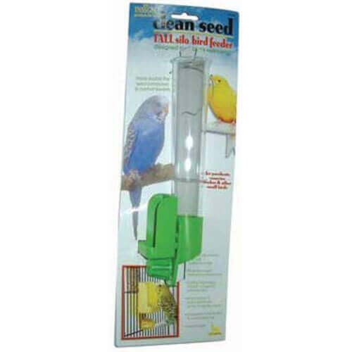 JW Pet Company Clean Seed Silo Bird Feeder Bird Accessory Tall Colors Vary