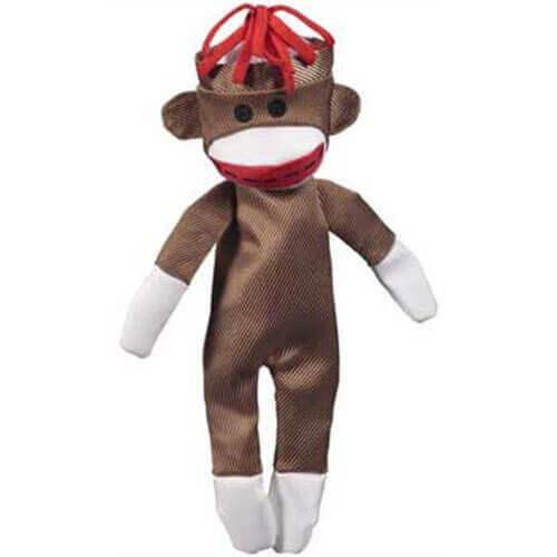 JW Pet Company Crackle Heads Canvas Monkey Dog Toy, Medium