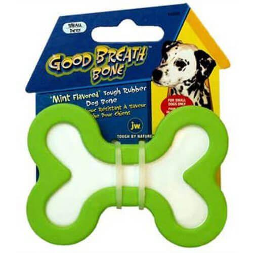 JW Pet Company Good Breath Bone Dog Toy Small Colors Vary
