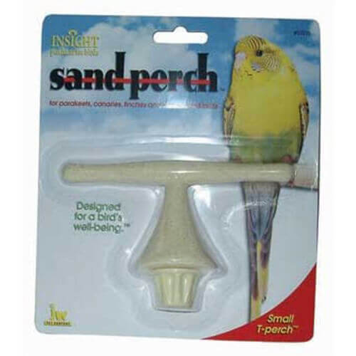 JW Pet Company Insight Sand Perch T Perch Bird Accessory Small Colors Vary
