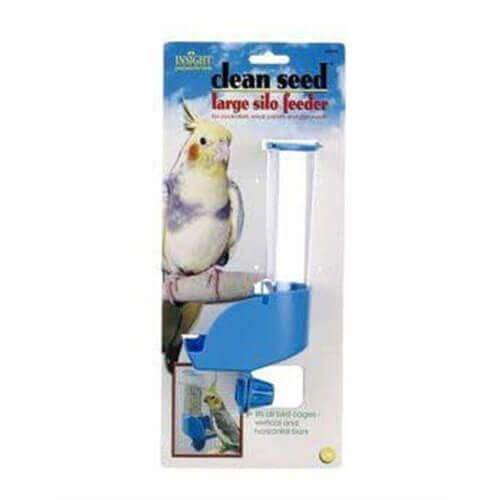 JW Pet Company Insight Silo Feeder Bird Accessory, Large, Assorted Colors