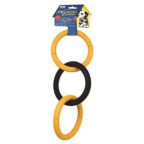 JW Pet Company Invincible Chains LT Triple Dog Toy Large Colors Vary