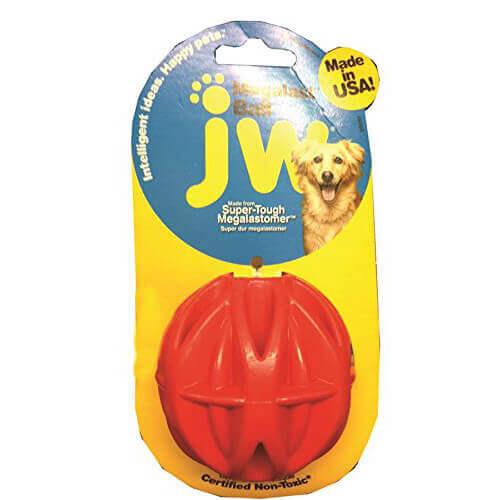 JW Pet Company MegaLast Ball Dog Toy Medium Colors Vary