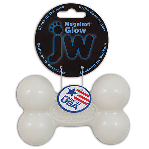 JW Pet Company Mega Last Bone Chew Toy Medium Glow