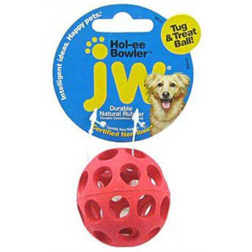 JW Pet Company Mini Hol-ee Bowler Dog Toy, Colors Vary