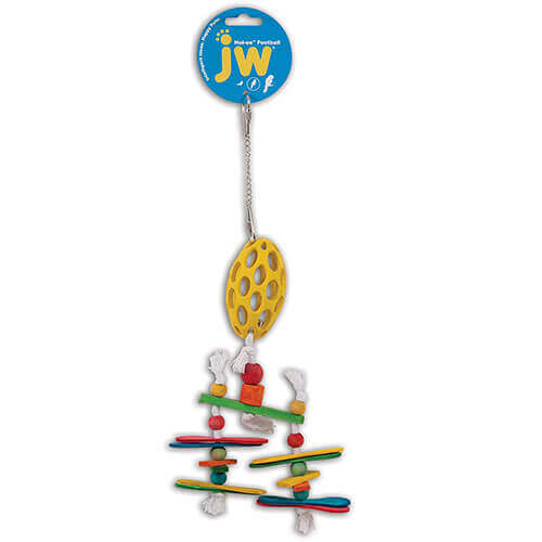 JW Pet Hol-ee Roller Football & Chandelier Bird Toy 13 Length