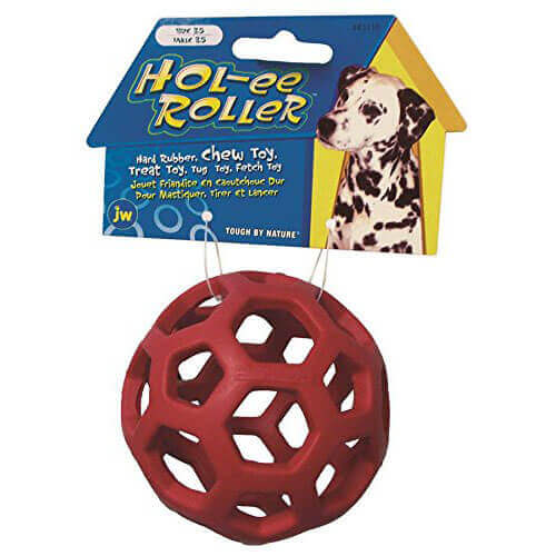 JW Pet Tough By Nature Hol-ee Roller Assorted Dog Toy, 8.8 cm