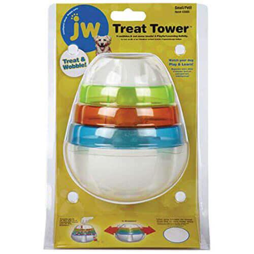 JW Pet Treat Tower Treat Dispensing Dog Toy