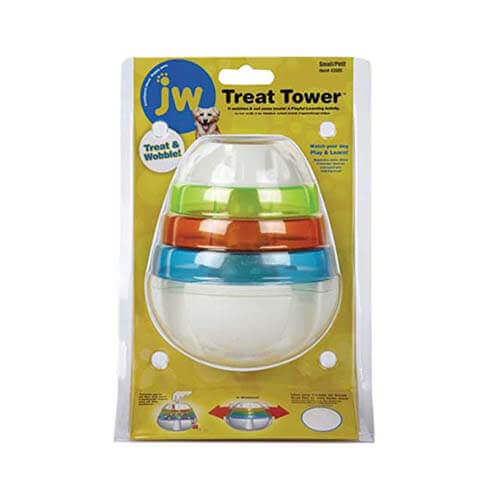 JW Pet Treat Tower Treat Dispensing Dog Toy