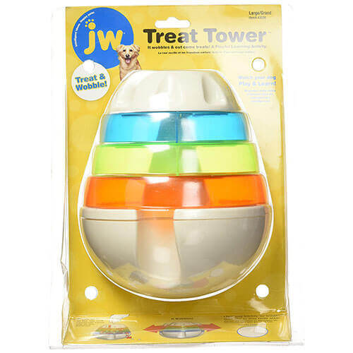 JW Pet Treat Tower Treat Dispensing Dog Toy Large