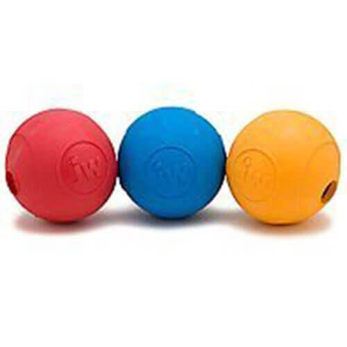 JW Ruffians Treat Puzzler Amaze-A-Ball Size Medium