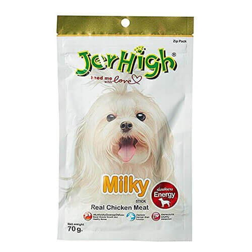 Jerhigh Milky Stick Real Chicken Meat 70gms (Pack Of 6)