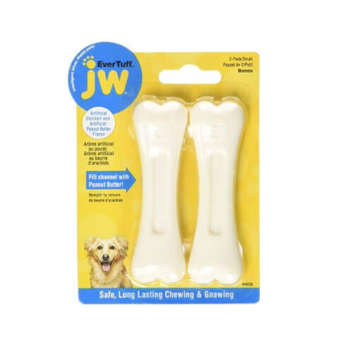 Jw 46130 Bone Chicken And Peanut Butter Chew Toy Pets Small White Pack - 2