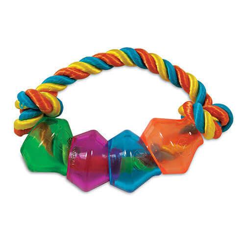 JW Pet Company Treat Pod Rope Ring Small