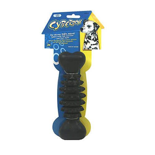 JW Pet Company Cyber Bone Rubber Dog Toy Jumbo Large Colors Vary