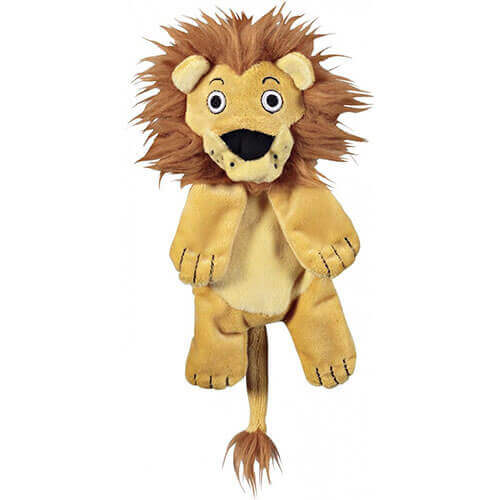 JW Pet Company Crackle Heads Leroy Lion Dog Toy Medium