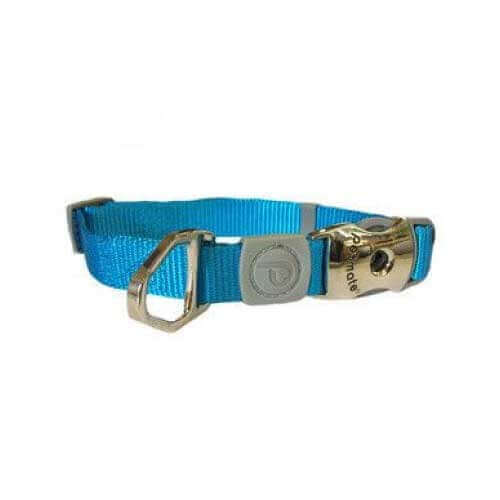 Aspen Pet Products Deluxe Adjustable Petmate Collar 3/4X14-20-blue
