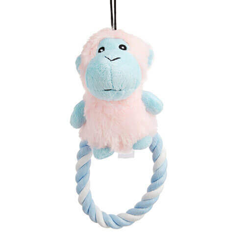 Chomper Puppy Plush Rope Ring Monkey