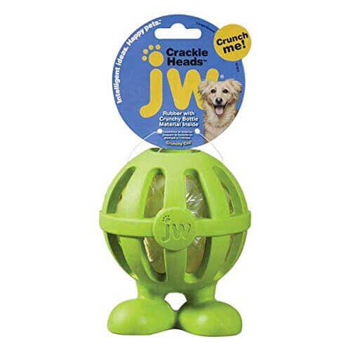 JW Pet Company Crackle Heads Crackle Cuz Dog Toy Large Colors Vary