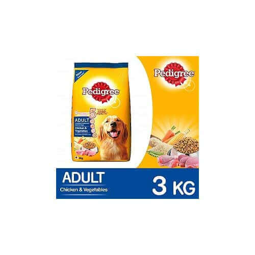 Pedigree Adult Dog Food Chicken Vegetables 3 kg Pack