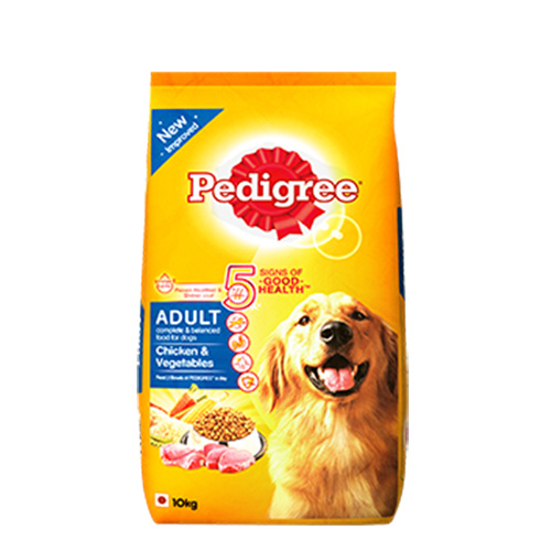 Pedigree Chicken, Egg & Rice Dog Food (Adult) 10KG